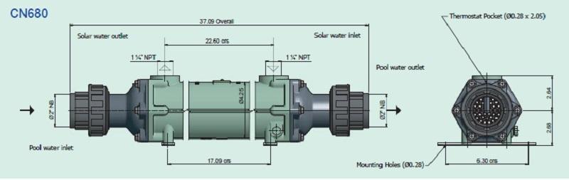CN135 Bowman Pool Heat Exchanger