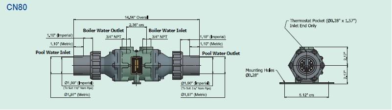 CN80 Bowman Pool Heat Exchanger